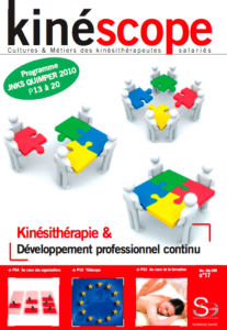 Kinéscope magazine Kinésithérapie & Développement professionnel continu - développement professionnel continu